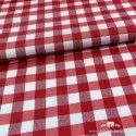 Mantel antimanchas vichy rojo