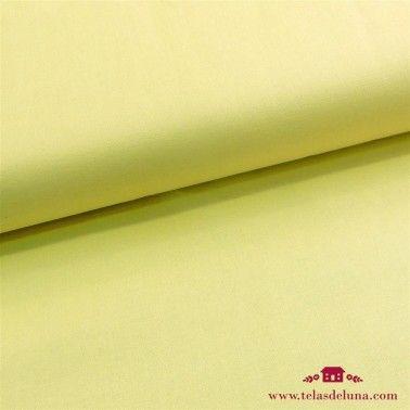 Tela amarilla lisa algodón