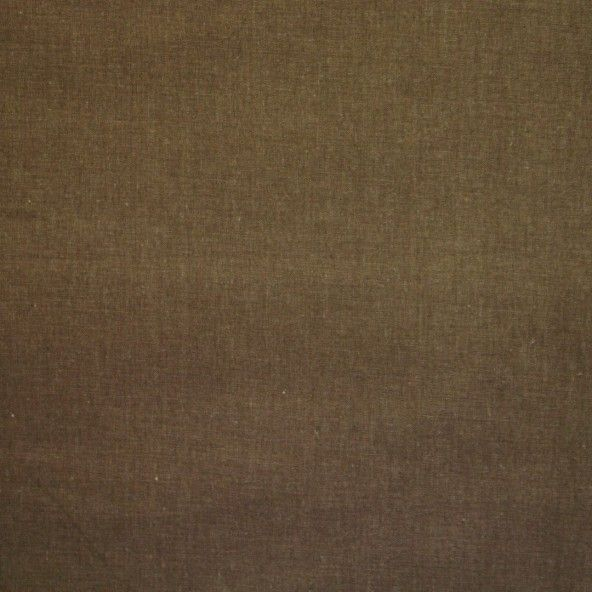 Tela lino liso marron