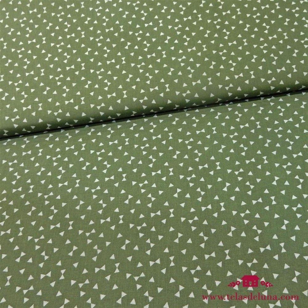 Tela verde triángulos