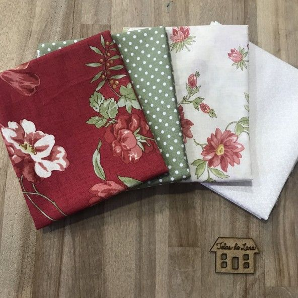 Fat quarter frutos flores