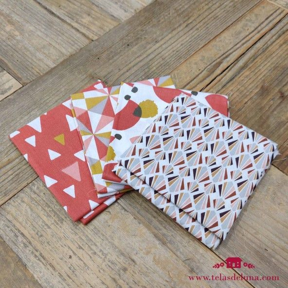 Fat quarter geometricas calidas