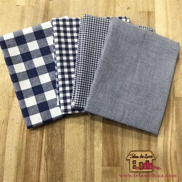 Fat quarter cuadros azules