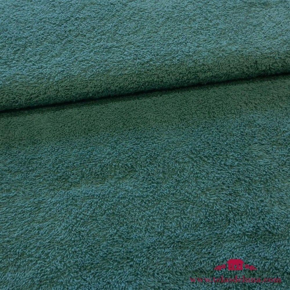 Tela rizo toalla verde