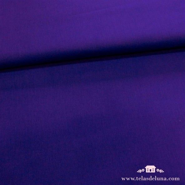 Tela azul añil lisa
