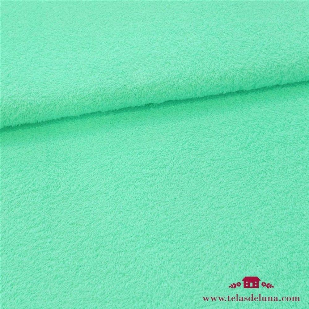 Tela rizo toalla verde mint