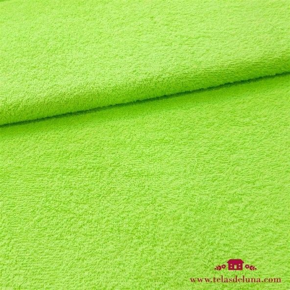 Tela rizo toalla verde lima