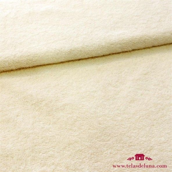 Tela rizo toalla beige