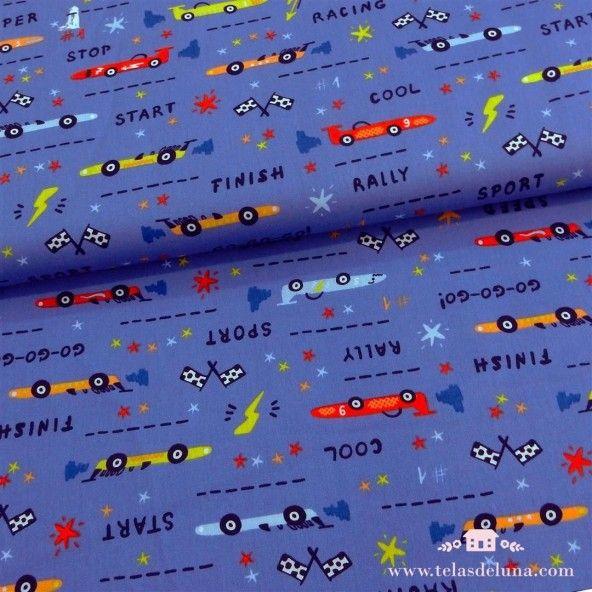 Tela azul coches
