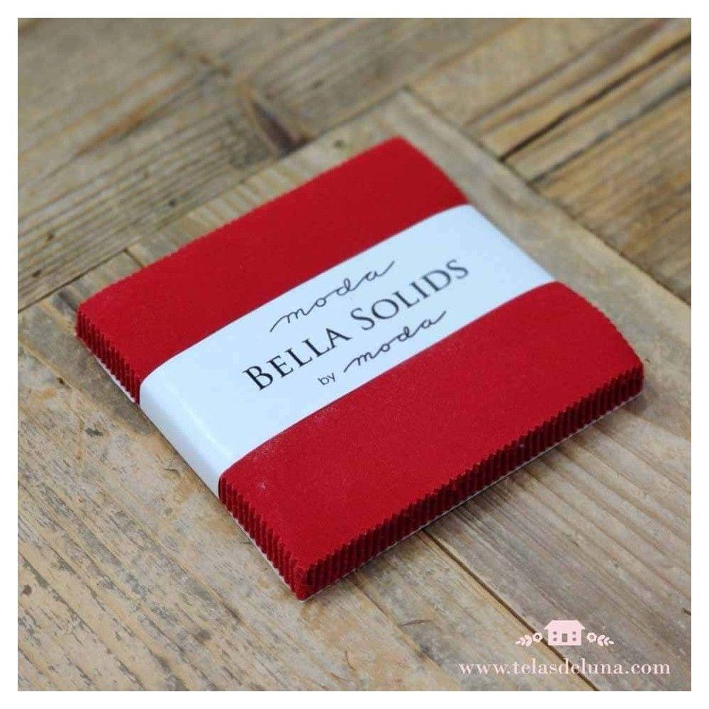 Charm pack rojo Bella Solids