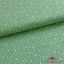 Tela verde mint estrellas