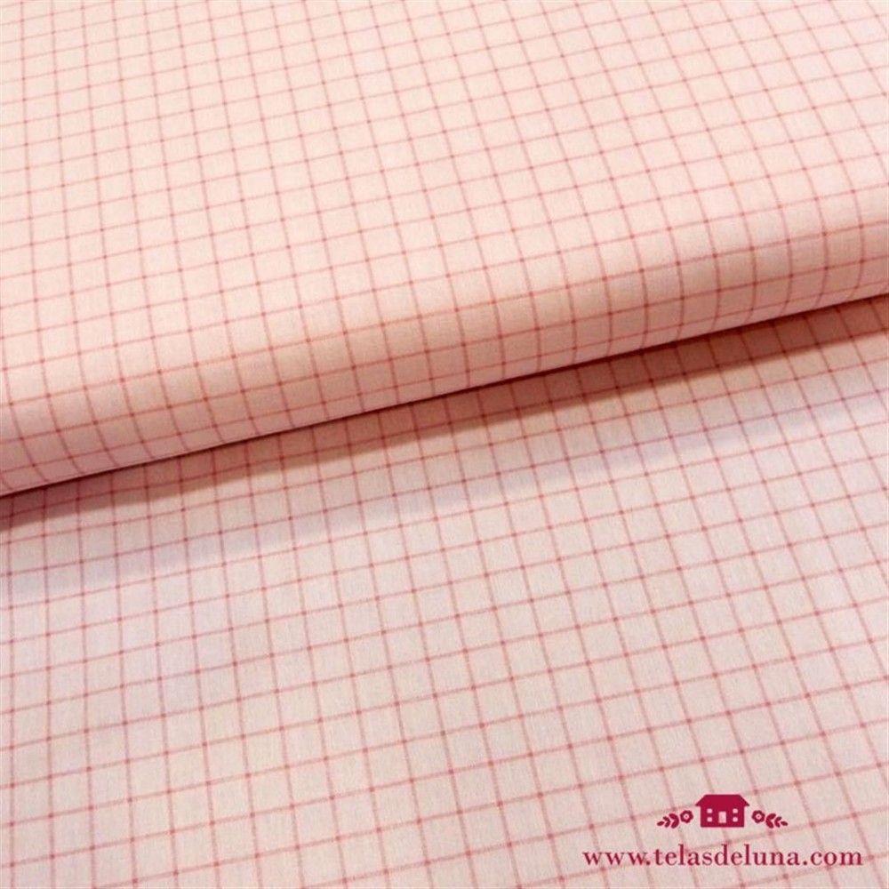 Tela cuadrados rosa