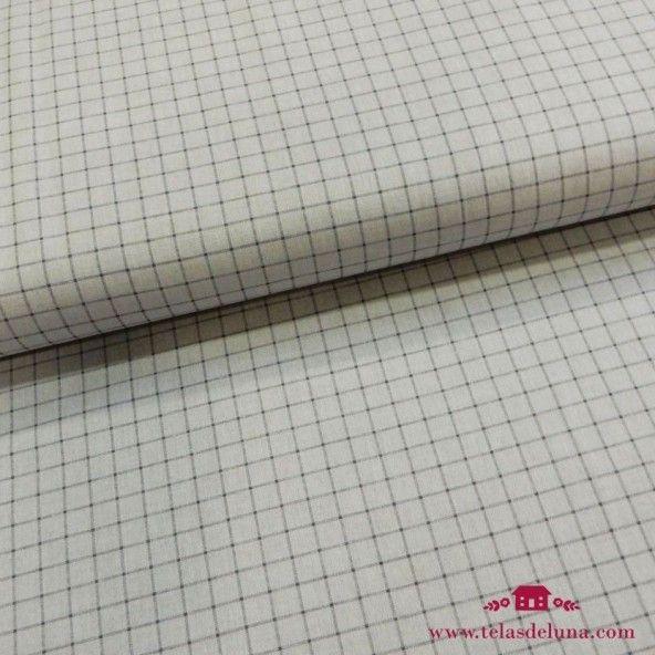 Tela cuadrados gris