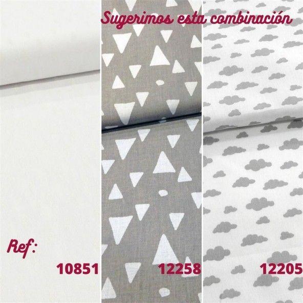 Tela gris triángulos modernos