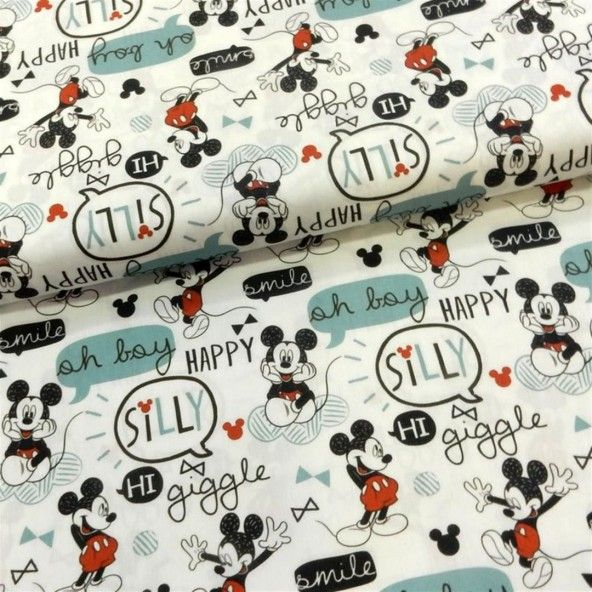 Tela Mickey Mouse happy 150 cm