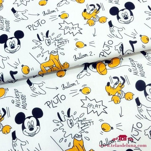 Tela Mickey y Pluto 150 cm