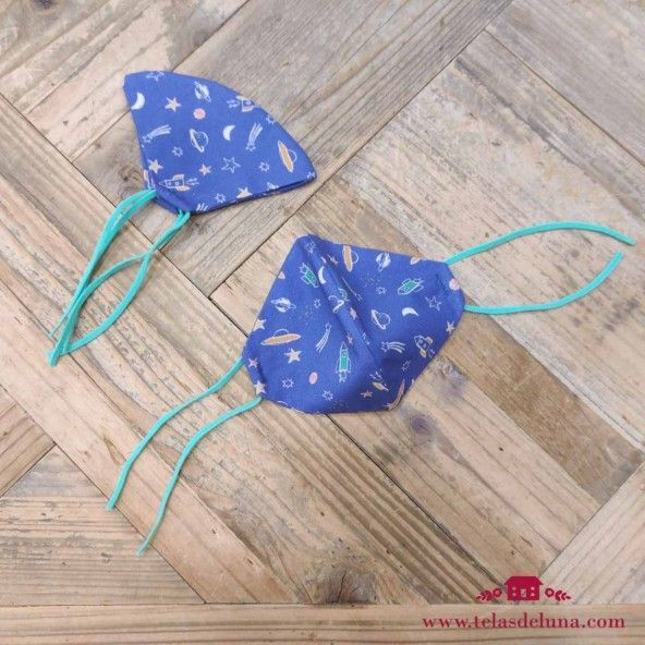 Mascarilla ergonomica infantil azul