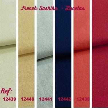Loneta - French Sashiko rojo