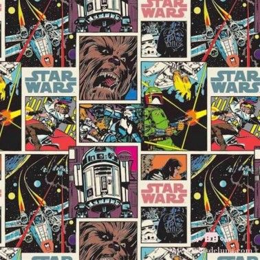 Tela comic Star Wars 150 cm