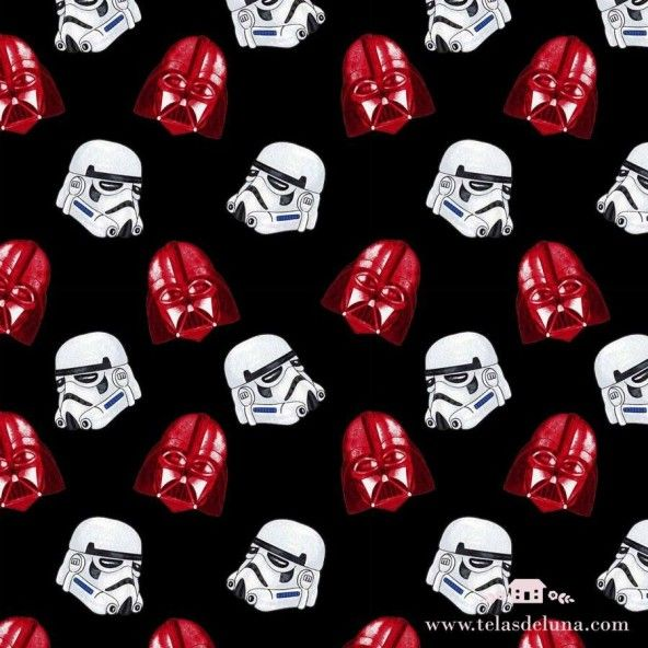 Tela Star Wars negro 150 cm