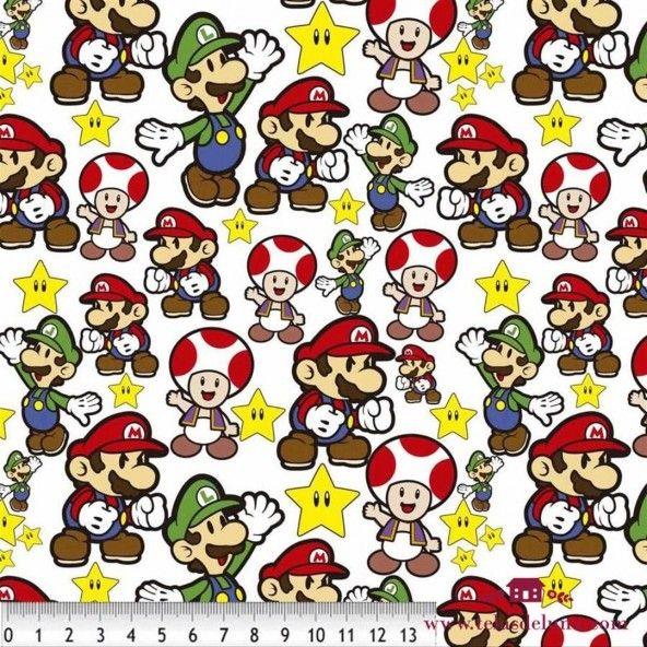 Tela Super Mario Bros 150 cm