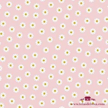 Tela margaritas rosa maquillaje