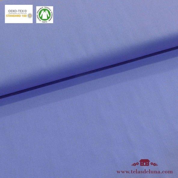 Tela orgánica azul bata
