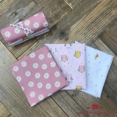 DIY- 3 telas Lovely Owls rosa