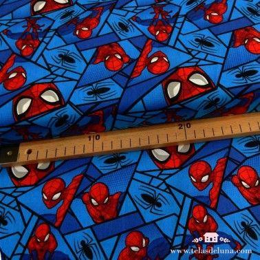 Tela marvel spiderman azul