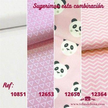TelA rosa dulce con triángulos