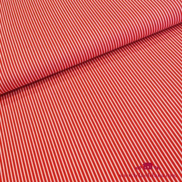 Tela rayas blancas rojas