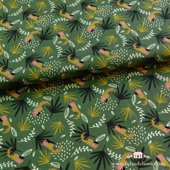 Kit mascarillas loros otoño tropical