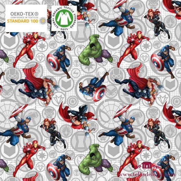 Tela Marvel superhéroes 150 cm