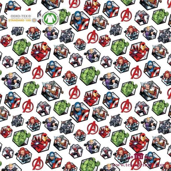 Tela Marvel superhéroes retratos