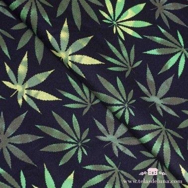 Tela marihuana negro