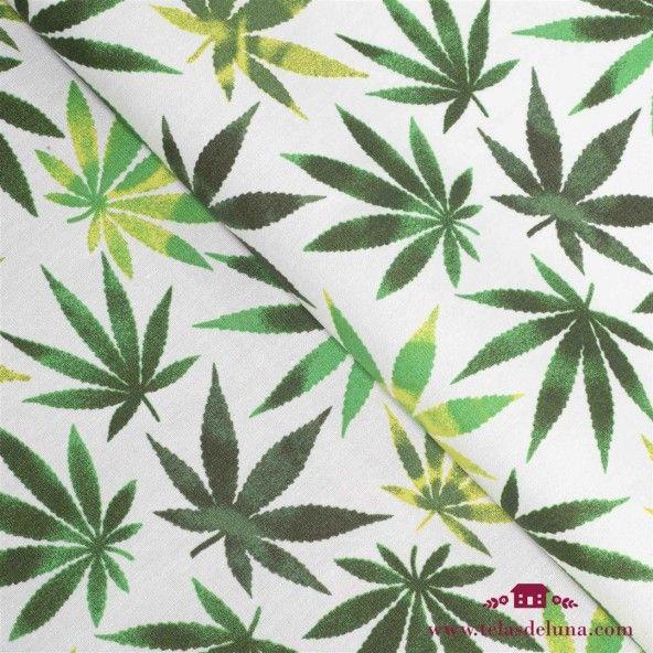 Tela marihuana blanco