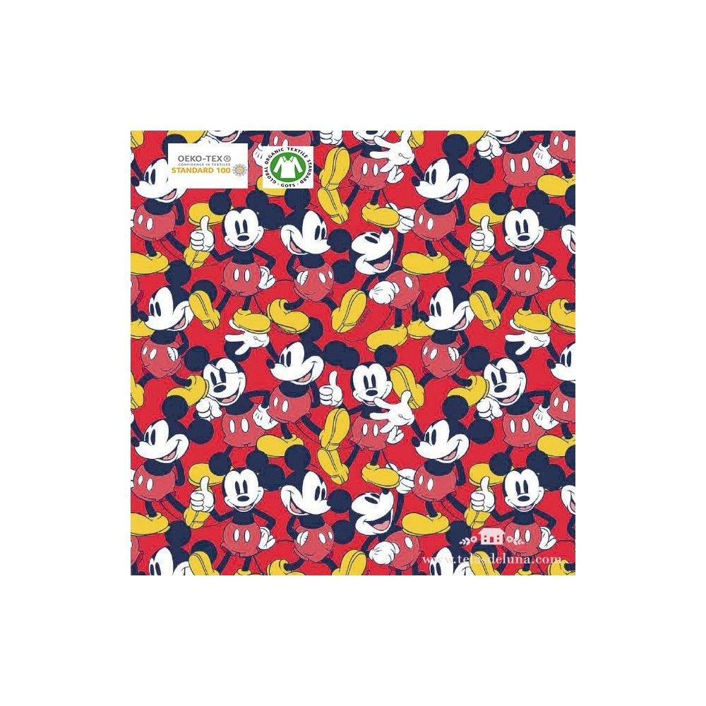 Tela Mickey Mouse rojo 150 cm