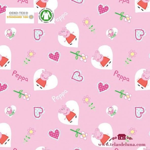 Tela Peppa Pig rosa 150 cm