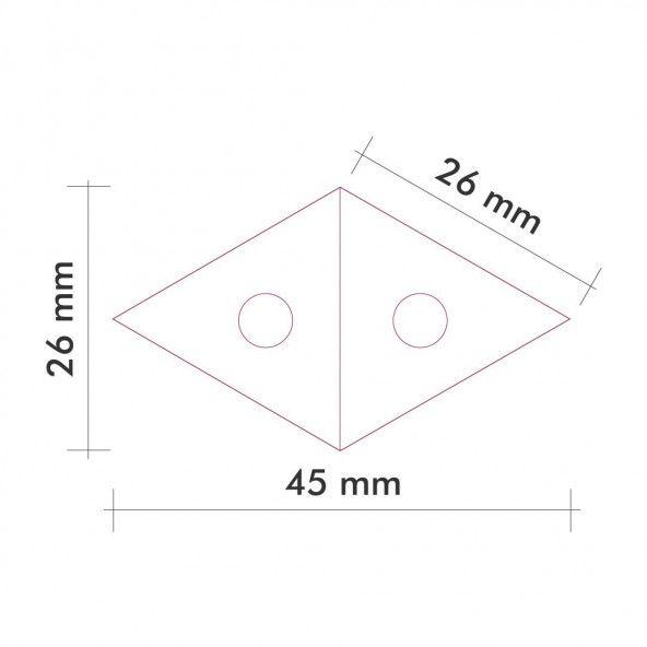 Plantilla rombo 26 mm. 30 piezas