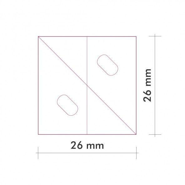 Plantilla cuadrada 26 mm. 30 piezas