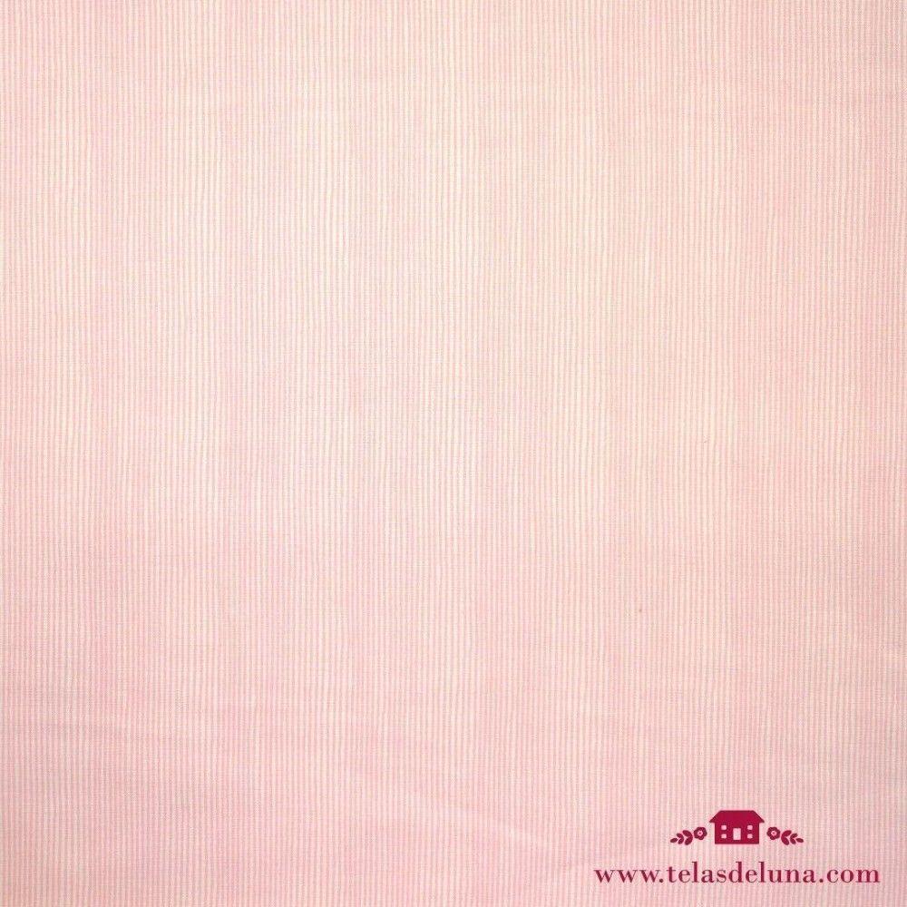 Tela rayas rosas fondo blanco