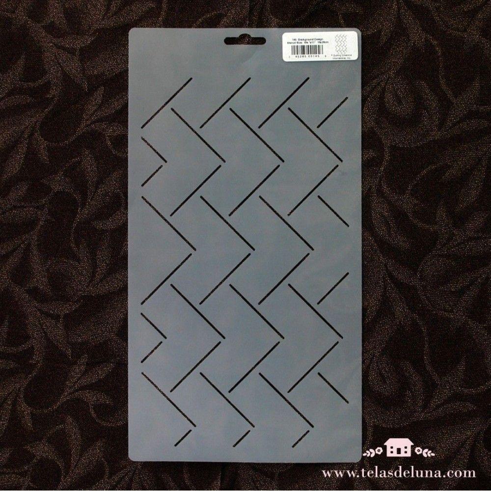 Plantilla sashiko geométrica 16x28cm