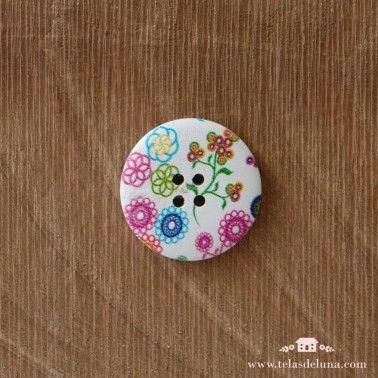 Botón decorativo circular grande