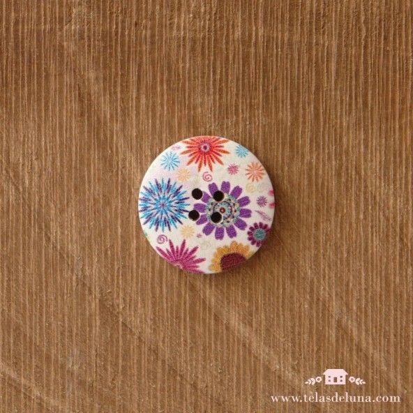 Botón decorativo circular mediano