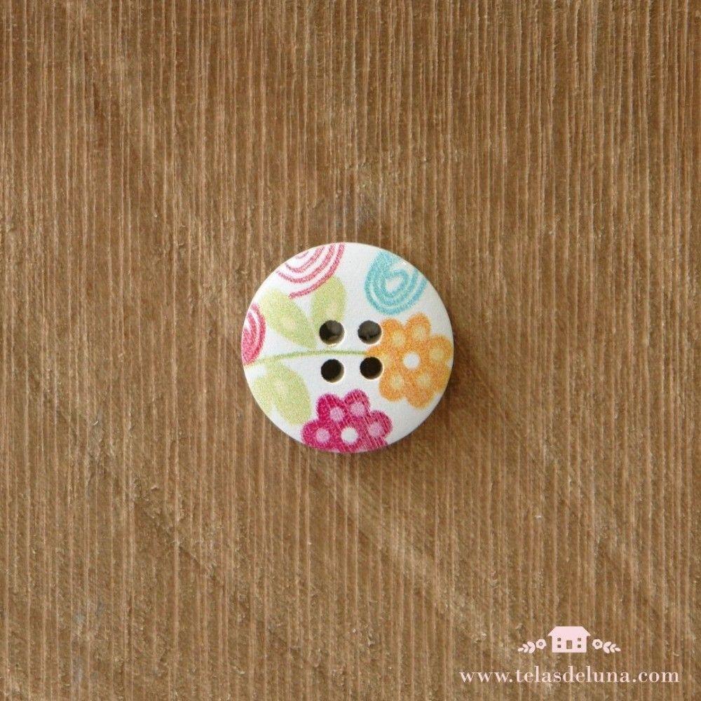 Botón decorativo circular pequeño