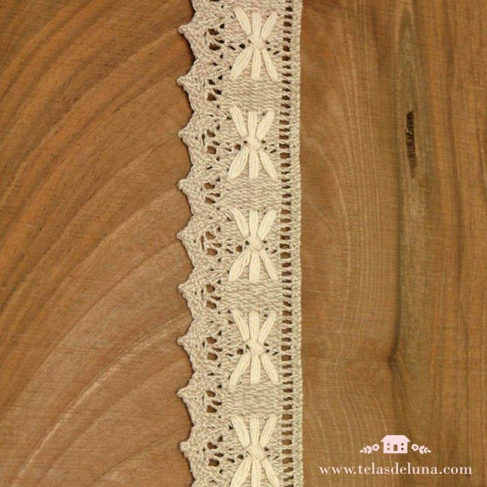 Puntilla algodón colores beige 40mm