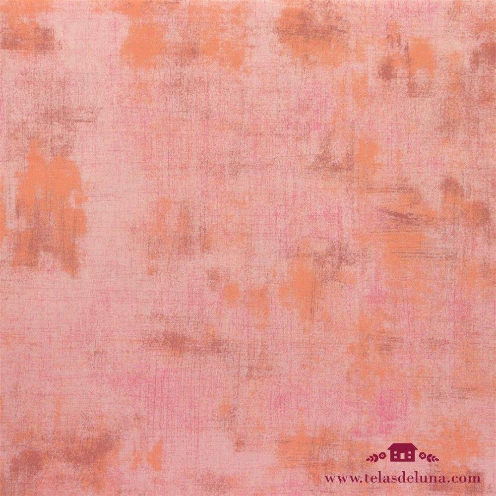Tela grunge moda fabrics rosa y naranja