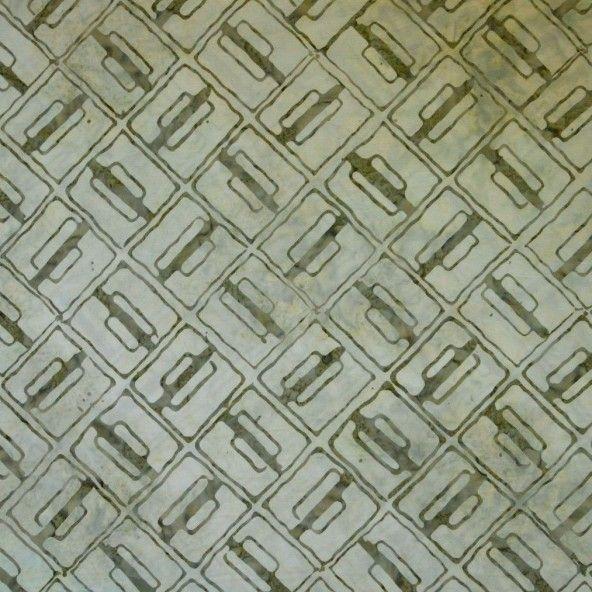 Tela batik verde