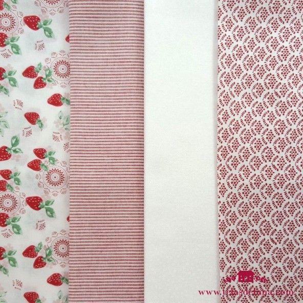 Fat Quarter telas japonesas estampado psicodelico con fresas