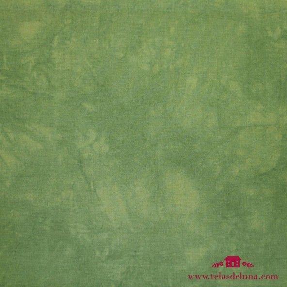 Tela lisa marmoleada verde oscuro